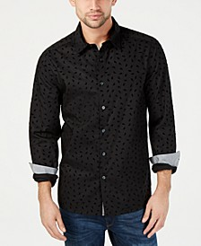 Men's Flocked Micro-Print Shirt