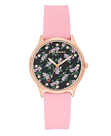 Woman's Juicy Couture, 1074RGPK Silicon Strap Watch