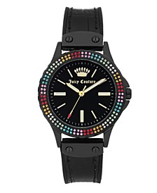 Woman's 1009MTBK Silicon Strap Watch