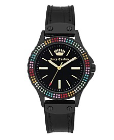 Woman's Juicy Couture, 1009MTBK Silicon Strap Watch