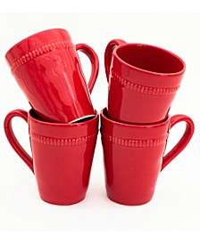 Algarve 4 Piece Red Mug Set