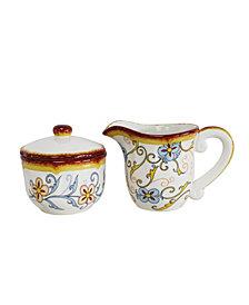 EuroCeramica Duomo 2 Piece Creamer & Sugar Bowl Set