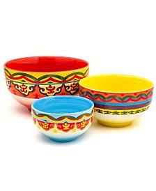 Euro Ceramica Galicia 3 Piece Mixing Bowl Set
