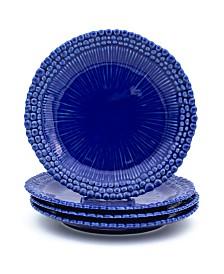 Euro Ceramica Sarar 4 Piece Cobalt Salad Plate Set