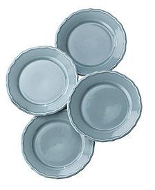EuroCeramica Savannah 4 Piece Blue Salad Plate Set