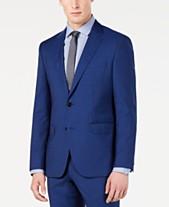 Hugo Boss Men s Modern-Fit High Blue Textured Suit Jacket 8cbec0f01