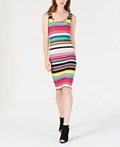 ca7e801a76 Planet Gold Juniors  Sleeveless Striped Bodycon Dress