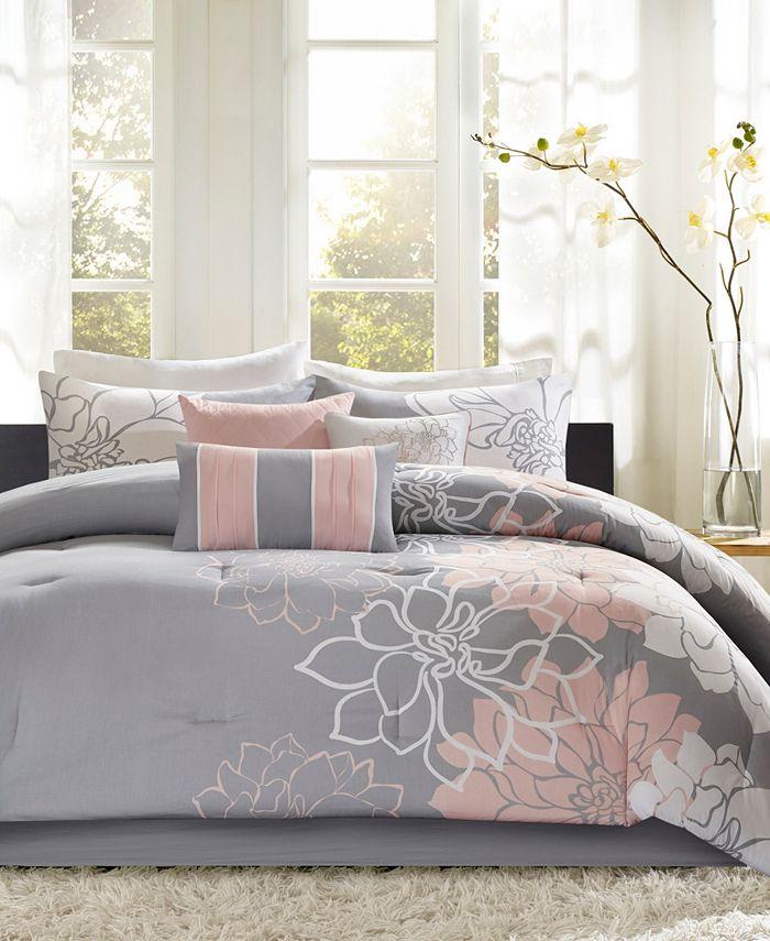Madison Park - Lola Cotton 7-Pc. Queen Comforter Set
