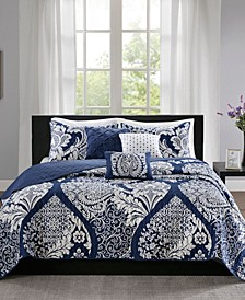 Vienna 6-Pc. Full/Queen Coverlet Set