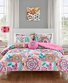 Camille 4-Pc. Full/Queen Floral Comforter Set