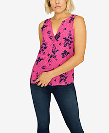 Sanctuary Beverly Printed Split-Back Top