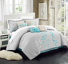 Chic Home Bliss Garden 12 Pc King Comforter Set
