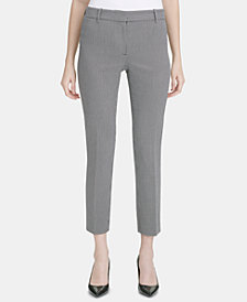 Calvin Klein Square-Print Ankle Pants