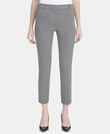 Calvin Klein Square-Print Ankle Pants