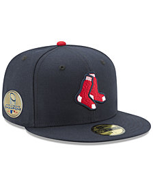New Era Boston Red Sox World Series Champ 59FIFTY Authentic Collection Patch Fitted Cap 2018