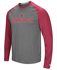 Colosseum Men's Washington State Cougars Social Skills Long Sleeve Raglan Top