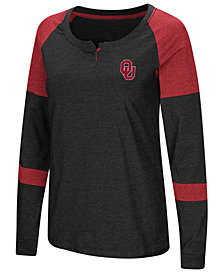 Colosseum Women's Oklahoma Sooners Colorblocked Raglan Long Sleeve T-Shirt