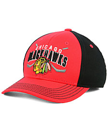 Outerstuff Boys' Chicago Blackhawks Faceoff Flex Stretch Fitted Cap