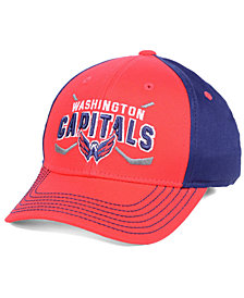 Outerstuff Boys' Washington Capitals Faceoff Flex Stretch Fitted Cap