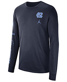 Nike Men's North Carolina Tar Heels Long Sleeve Basketball T-Shirt