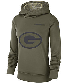 Nike Women's Green Bay Packers Salute To Service Therma Hoodie