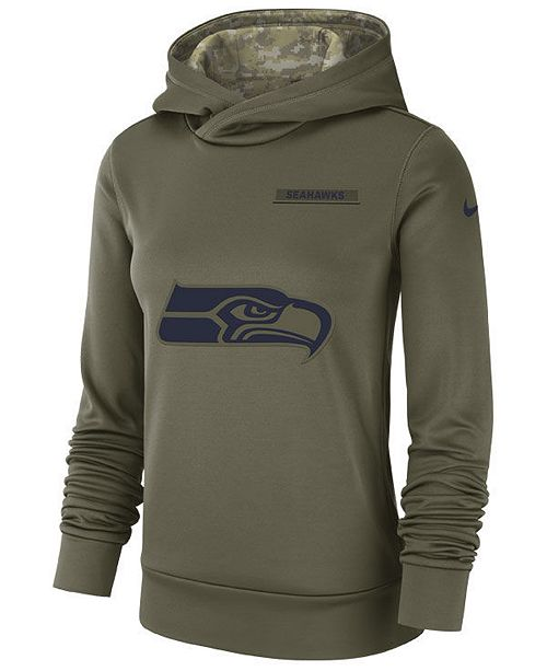 6a7bd460 Nike Women's Seattle Seahawks Salute To Service Therma Hoodie ...