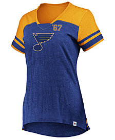 Majestic Women's St. Louis Blues Hyper V Neck T-Shirt