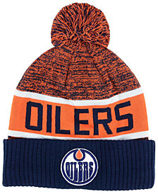 Authentic NHL Headwear Edmonton Oilers Goalie Knit Hat