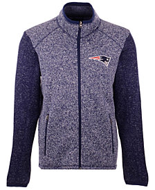 G-III Sports Men's New England Patriots Alpine Zone Sweater Fleece Jacket