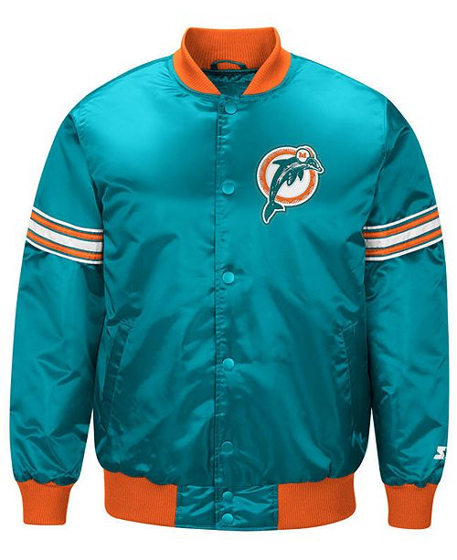 16a64db0 G-III Sports Men's Miami Dolphins Draft Pick Starter Satin Jacket ...