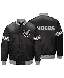G-III Sports Men's Oakland Raiders Draft Pick Starter Satin Jacket