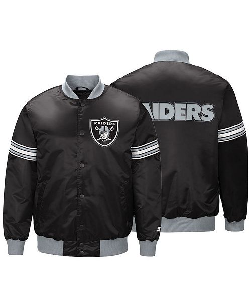 63254d33b38 ... G-III Sports Men s Oakland Raiders Draft Pick Starter Satin Jacket ...