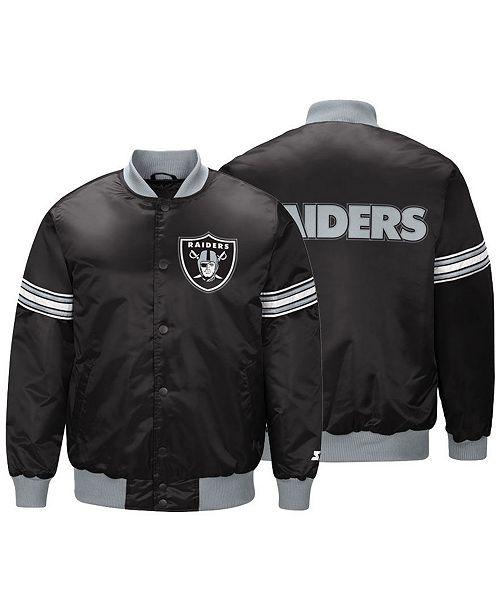 ded85a8f G-III Sports Men's Oakland Raiders Draft Pick Starter Satin Jacket ...