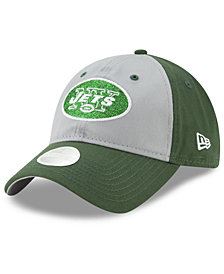 New Era Women's New York Jets Gray Glitter 9TWENTY Cap