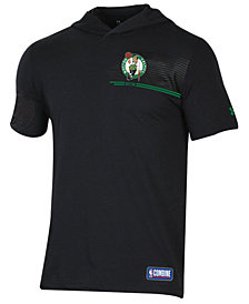 Under Armour Men's Boston Celtics Baseline Short Sleeve Hooded T-Shirt