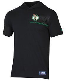 Under Armour Men's Boston Celtics Baseline Short Sleeve Hooded T-Shirt