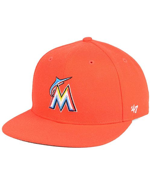 c42fc8e1f881d authentic 47 brand boys miami marlins basic snapback cap sports fan shop by  d24b2 49c33