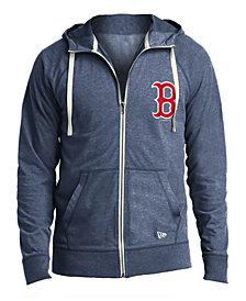 New Era Men's Boston Red Sox Sueded Full-Zip Hoodie