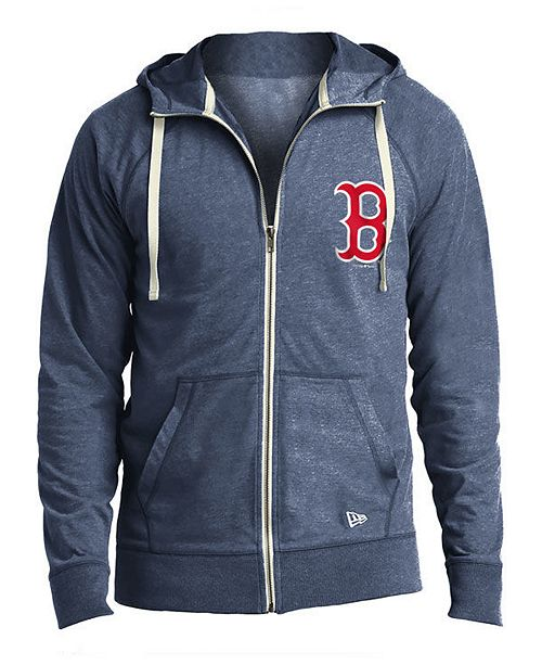 best cheap c8ee8 522a8 New Era Men's Boston Red Sox Sueded Full-Zip Hoodie ...