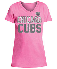 5th & Ocean Chicago Cubs Glitter Gel Team T-Shirt, Girls (4-16)