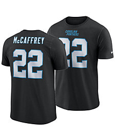 Nike Men's Christian McCaffrey Carolina Panthers Pride Name and Number Wordmark T-Shirt