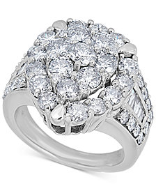 Diamond Teardrop Cluster Ring (4 ct. t.w.) in 14k White Gold