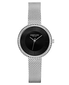 Kenneth Cole New York Ladies Silver Mesh Bracelet Watch 32mm