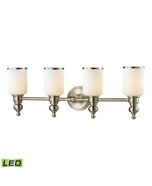 ELK Lighting Bristol Collection 4 light bath in Brushed Nickel - LED, 800 Lumens (3200 Lumens Total) with Full Scale Dimming Range