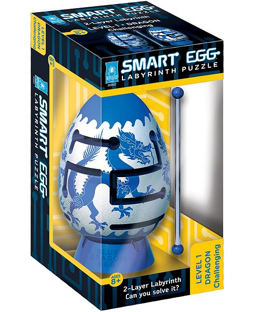 Areyougame Smart Egg 2-Layer Labyrinth Puzzle - Blue Dragon, Challenging