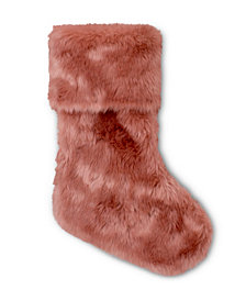Faux Fur Stocking Mauve