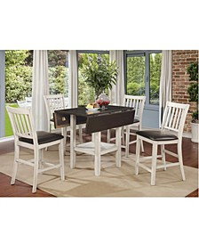 Pierson II Slatted Counter Dining Chair (Set of 2)