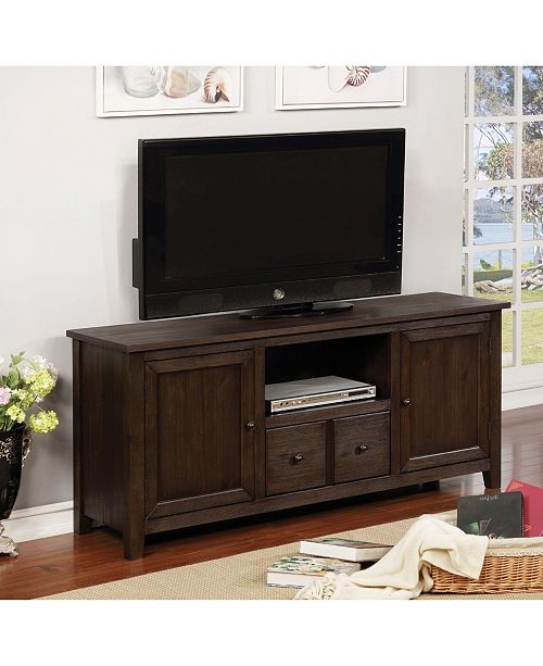 """Furniture of America Burke Two-Cabinet 60"""" TV Stand"""