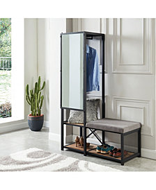 Verna Metal Multi-Storage Mirror and Bench