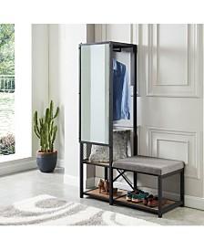 Verna Metal Multi-Storage Mirror and Bench